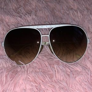 Brand New🖤 Electric brand  white metal sunglasses